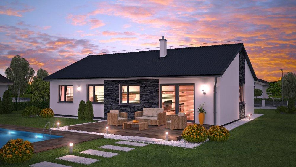 HP110 - nový model dřevostavby typu bungalov od HP Domy s.r.o.