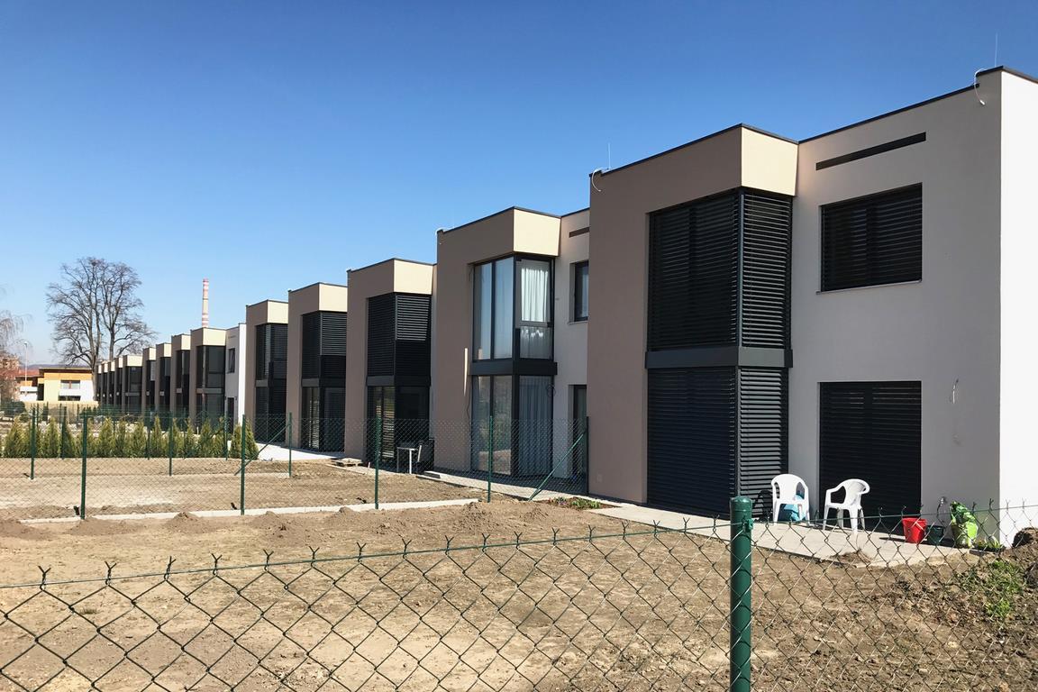 Projekt 14-ti řadových domů Na Celně – Mladá Boleslav poprvé.