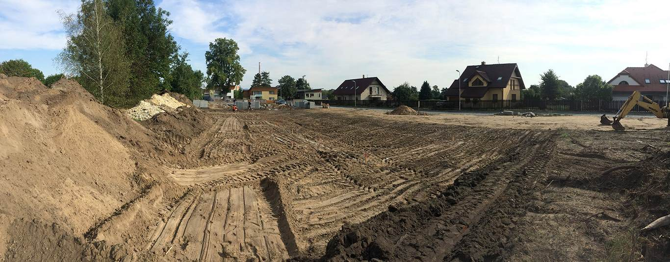 Projekt 14-ti řadových domů Na Celně – Mladá Boleslav - přípravné práce
