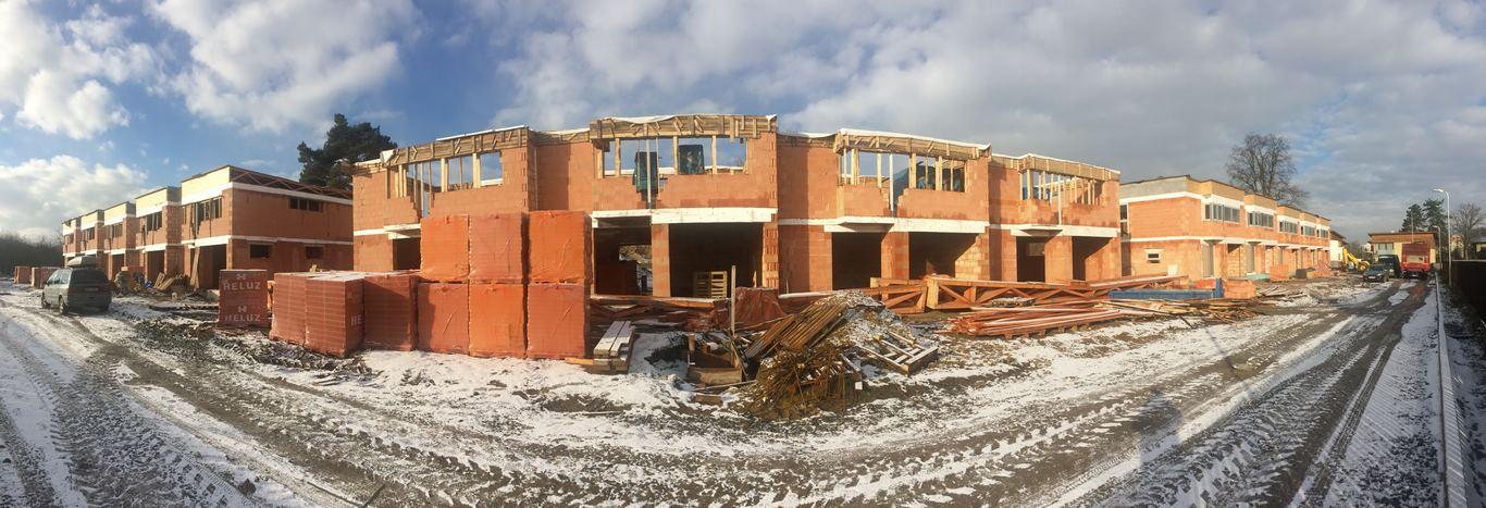 Ve výstavbě: projekt 14-ti řadových domů Na Celně – Mladá Boleslav.