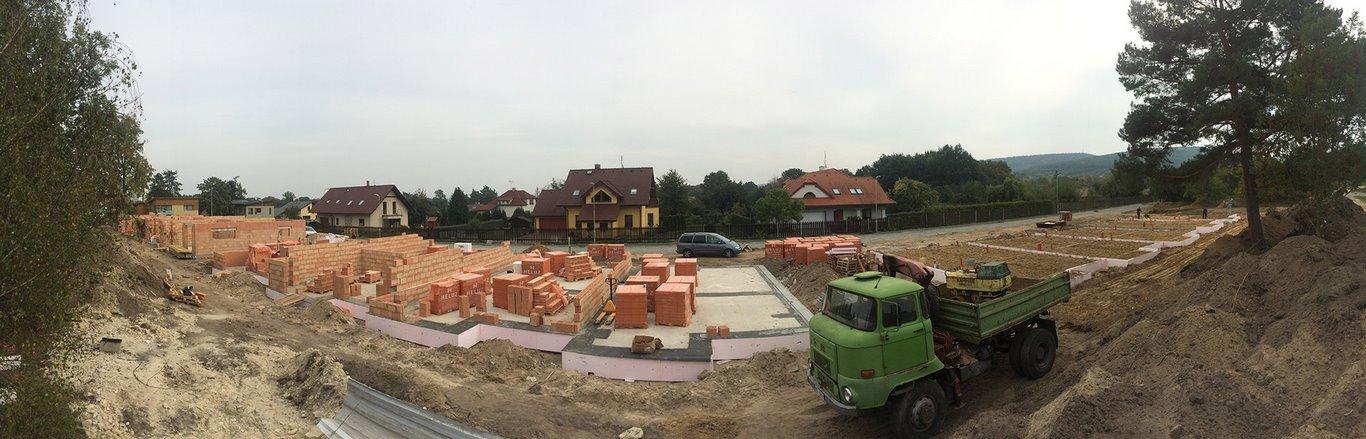 Projekt 14-ti řadových domů Na Celně – Mladá Boleslav, materiál připraven.