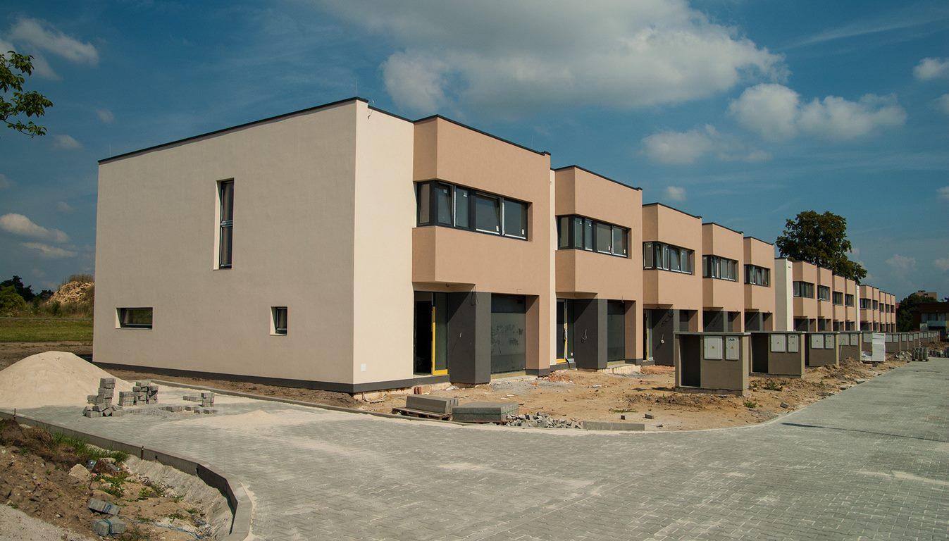Projekt 14-ti řadových domů Na Celně – Mladá Boleslav, řadovka.